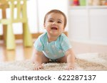 crawling baby boy at home on... | Shutterstock . vector #622287137