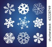 Snowflake winter set vector illustration
