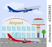 airport icon  vector... | Shutterstock .eps vector #622288181