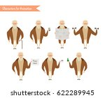 grandfather character for...   Shutterstock .eps vector #622289945