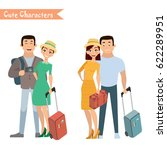 people and family traveling on... | Shutterstock .eps vector #622289951