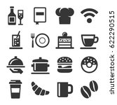 cafe and restaurant icons set... | Shutterstock .eps vector #622290515