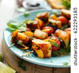 vegetarian skewers with... | Shutterstock . vector #622293185