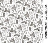 italy landmark food pattern... | Shutterstock .eps vector #622303055