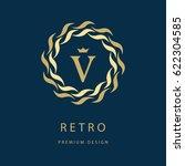 modern logo design. geometric... | Shutterstock .eps vector #622304585