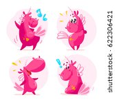 vector collection of flat funny ... | Shutterstock .eps vector #622306421