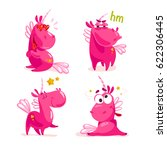 vector collection of flat funny ... | Shutterstock .eps vector #622306445