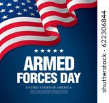 armed forces day template... | Shutterstock .eps vector #622306844