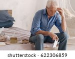 thoughtful depressed man being... | Shutterstock . vector #622306859