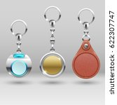 realistic keychains. vector car ... | Shutterstock .eps vector #622307747