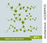 green plant vines   set 2 of 3 | Shutterstock .eps vector #622309925
