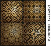 set of islamic oriental... | Shutterstock .eps vector #622312505