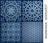 set of islamic oriental... | Shutterstock .eps vector #622312517
