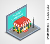 vector illustration. the store... | Shutterstock .eps vector #622313669