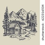 hand drawn vector illustration... | Shutterstock .eps vector #622316534