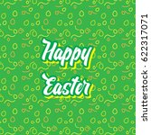 happy easter pattern seamless  | Shutterstock .eps vector #622317071