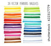 watercolor markers brush... | Shutterstock .eps vector #622317779