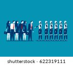 human vs robot businesspeople... | Shutterstock .eps vector #622319111