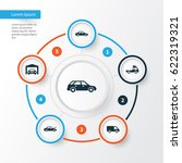 car icons set. collection of...   Shutterstock .eps vector #622319321