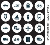 transport icons set. collection ... | Shutterstock .eps vector #622319459