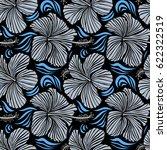 tropical flowers  hibiscus... | Shutterstock .eps vector #622322519