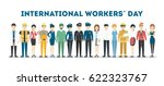 international labor day. people ... | Shutterstock .eps vector #622323767