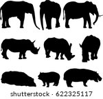 african three types shape of...   Shutterstock .eps vector #622325117