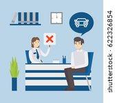 loan for car denied. visitor... | Shutterstock .eps vector #622326854