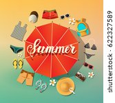 summer background. summer... | Shutterstock .eps vector #622327589