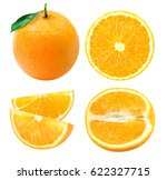 isolated oranges. collection of ... | Shutterstock . vector #622327715