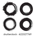 set of grunge circles.distress... | Shutterstock .eps vector #622327769