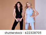 two sexy beautiful woman blond... | Shutterstock . vector #622328705
