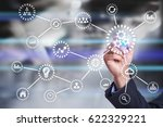 automation concept as an... | Shutterstock . vector #622329221