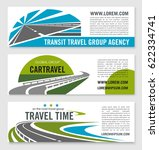 car travel company or road trip ... | Shutterstock .eps vector #622334741