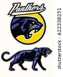 black panther mascot set | Shutterstock .eps vector #622338251