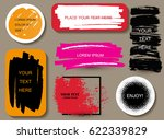set of grunge banners.vector... | Shutterstock .eps vector #622339829