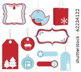 Red And Blue Christmas Tags ...