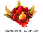 fresh raw exotic fruits in... | Shutterstock . vector #62234332