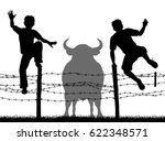 editable vector silhouettes of... | Shutterstock .eps vector #622348571
