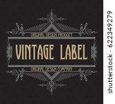 vintage typographic label... | Shutterstock .eps vector #622349279