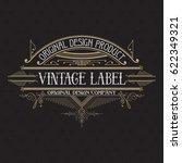 vintage typographic label... | Shutterstock .eps vector #622349321