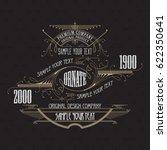 vintage typographic label... | Shutterstock .eps vector #622350641