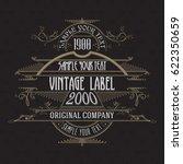 vintage typographic label... | Shutterstock .eps vector #622350659