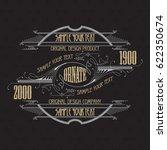 vintage typographic label... | Shutterstock .eps vector #622350674