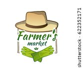 logo for farmer's market. badge ... | Shutterstock .eps vector #622352171