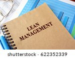 Small photo of Book with title lean management on a table.