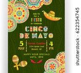 cinco de mayo poster template....   Shutterstock .eps vector #622354745