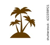 brown silhouette island with... | Shutterstock .eps vector #622358921
