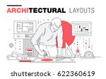 architectural layouts in trendy ... | Shutterstock .eps vector #622360619