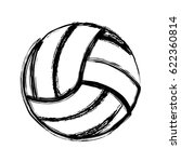 Monochrome Sketch Of Volleybal...